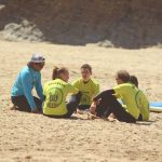 amado beach teaching in the shore, the best surf lessons at Carrapateira, Algarve, Portugal.