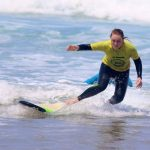 Passing over difficulties with surf coach help, R Star surf school personalised lessons for all levels, Carrapateira, Algarve, Portugal