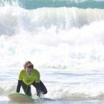 very first stand up with R Star surf school Carrapateira, Algarve