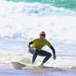 FUN RIDE WITH SURFERS GIRLS AMADO BEACH CARRAPATEIRA ALGARVE, SURF SCHOOL R STAR