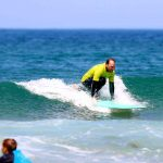 Dropping down at Amado beach with R Star surf school, Carrapateira, Algarve-Portugal