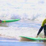 YELLOW RASH VEST BEGINNERS AMADO CARRAPATEIRA ALGARVE, SURF SCHOOL R STAR THE BEST SURF LESSONS