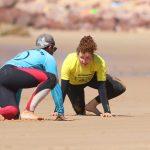 THE YELLOW RASH VEST WARM UP AT AMADO SURF SCHOOL R STAR ALGARVE CARRAPATEIRA