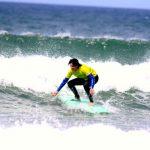 R Star Carrapateira surf school at Amado beach forming surfers, Algarve southwest coast of Portugal