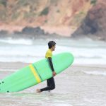 Great moments learning how to surf, really easy surf lessons made by R Star surf school Carrapateira, Algarve, Portugal