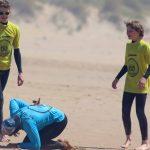 warming up at Amado beach, R Star surf school, Algarve Portugal
