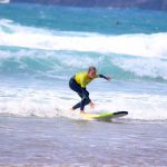 Riding awesome waves at Amado Beach Carrapateira surf school R STAR Portugal
