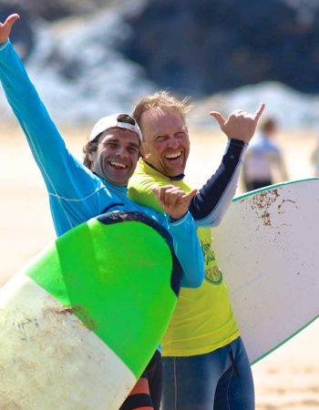 Having fun, riding waves at Amado with R Star surf school, Carrapateira, Algarve_Portugal