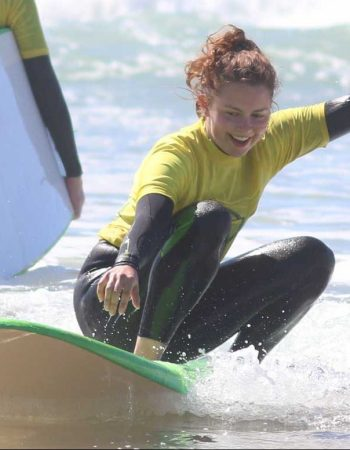 R STAR AND GREAT FUN RIDE WITH HIS SUPER CHICKS ON THE WAVES AMADO ALGARVE SURF SCHOOL