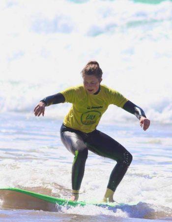 First day surfing with R Star surf school Carrapateira, Amado beach, Algarve
