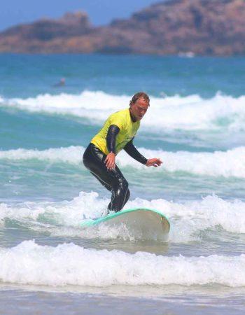 Fun ride at amado beach with R Star Carrapateira surf school, Algarve-Portugal